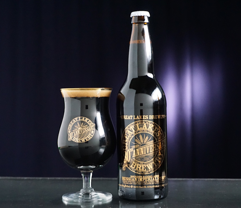 30th Bourbon Barrel-Aged Russian Imperial Stout bottle_glass shot