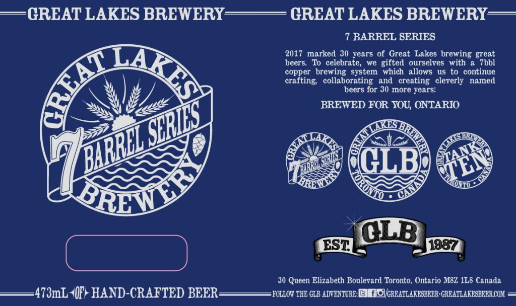 7 Barrel Can Sticker Label
