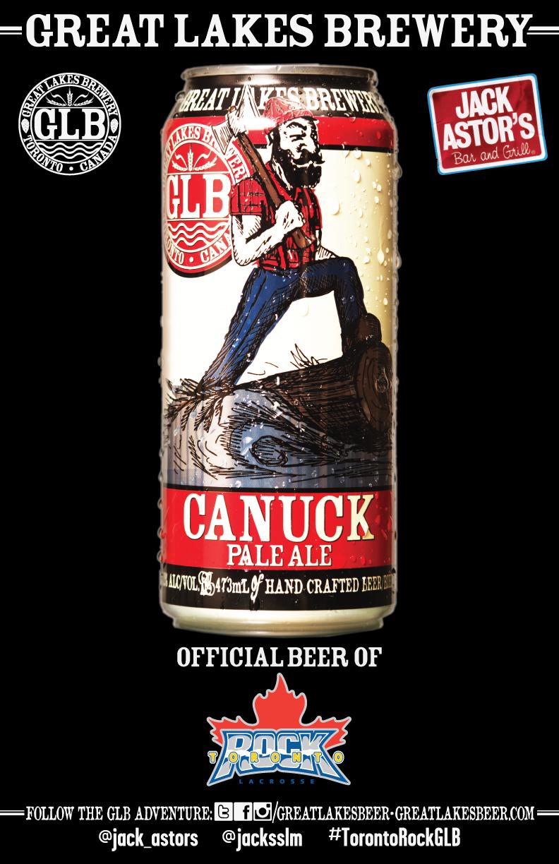 Canuck Pale Ale + Toronto Rock + Jack Astor's