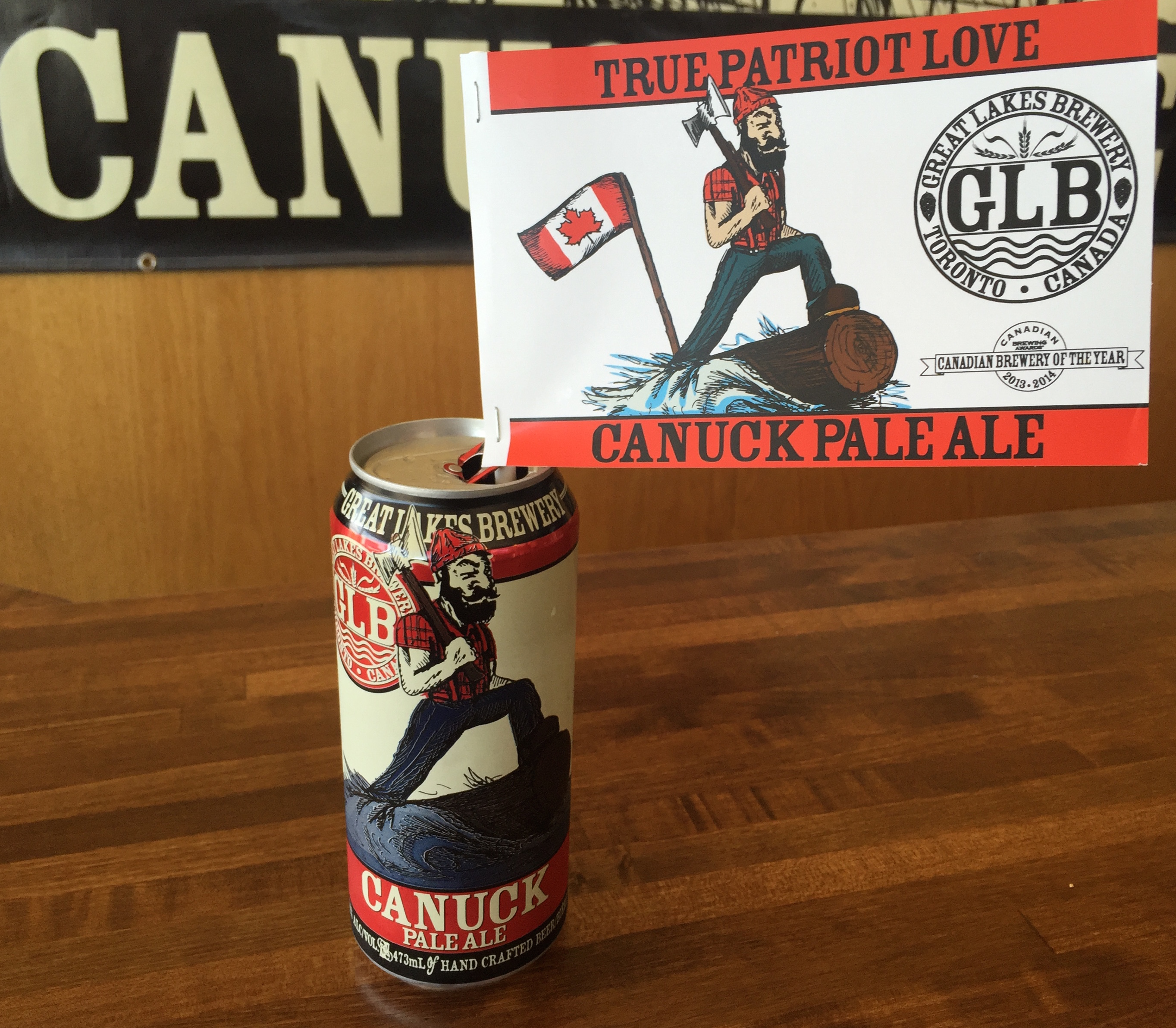 Canuck can with Gordie Flag_2016