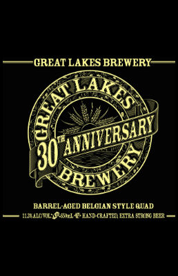 GLB 30 Quad Beer Label