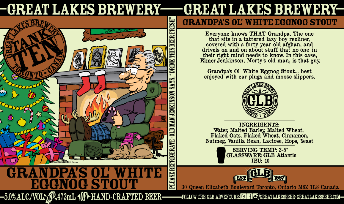 Grandpa's Ol' White Eggnog Stout_Label