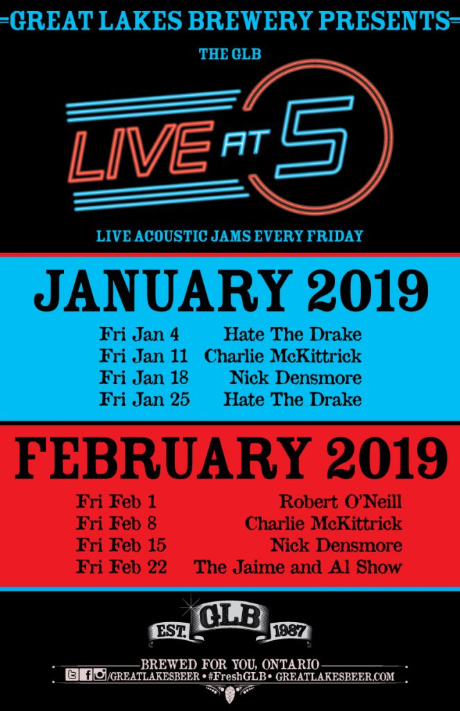 Live at 5 poster - January and February_2018