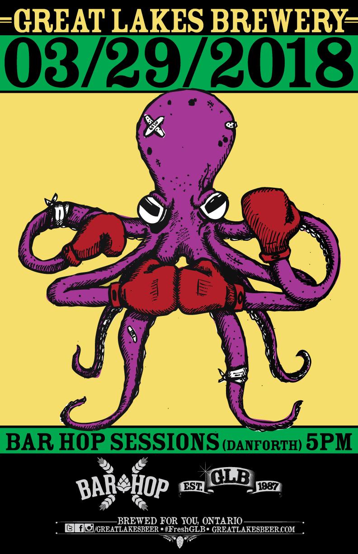 Poster - Octopus Release Bar Hop - 2018
